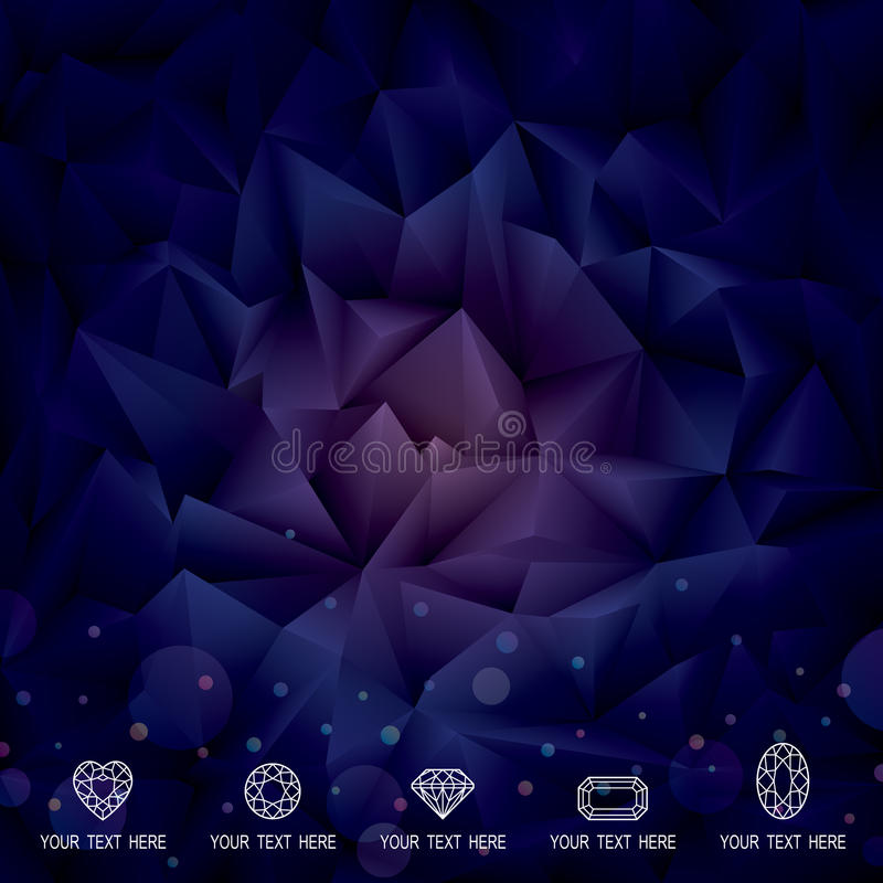 Geometric Dark Background. stock photos
