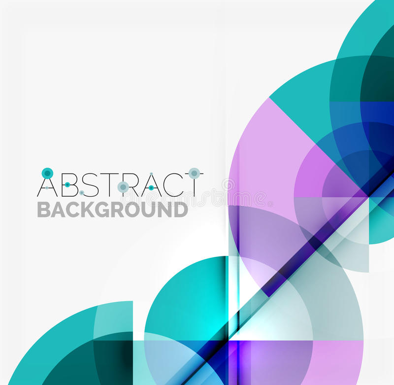 Geometric design abstract background - circles royalty free illustration