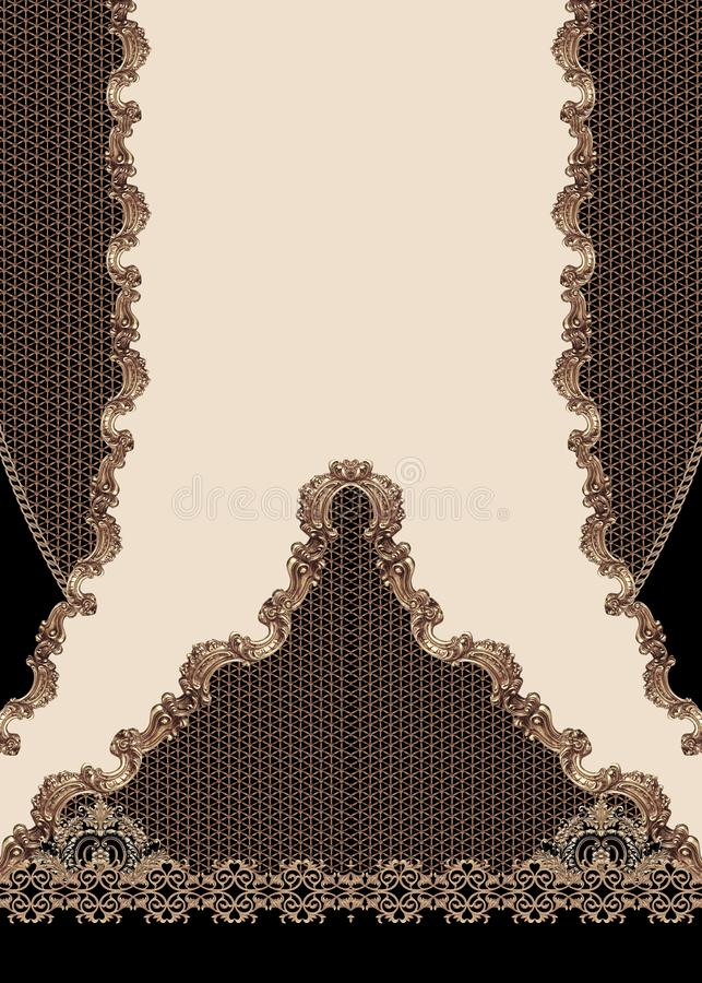 Geometric design black lines fashion beautiful style illustration fabric texture vector illustration