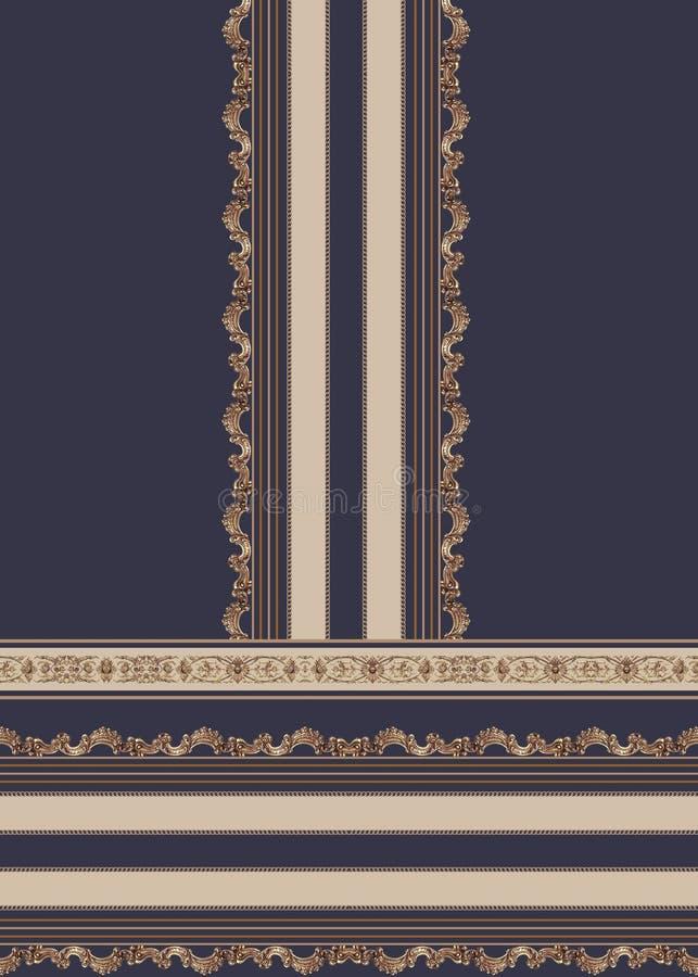 Geometric design blue lines fashion beautiful style illustration fabric texture vector illustration