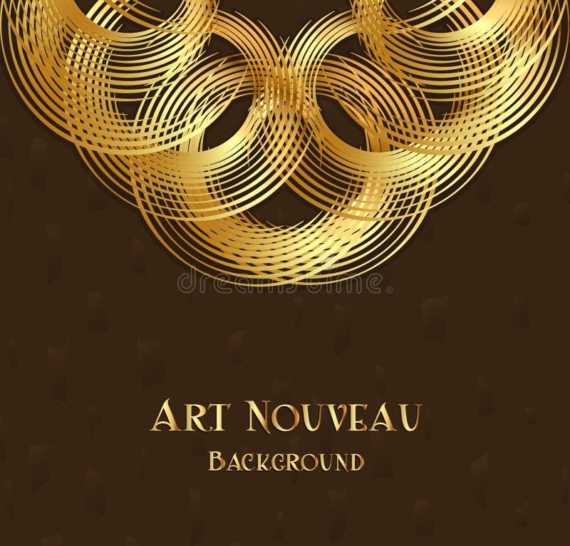 Geometric design element in art nouveau style royalty free illustration