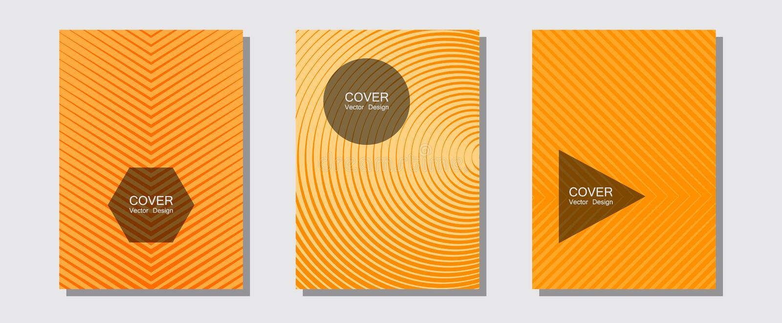 Geometric design templates for banners, covers. Trendy magazines. Halftone lines music poster background. Balanced posh mockups. Halftone brochure lines vector illustration
