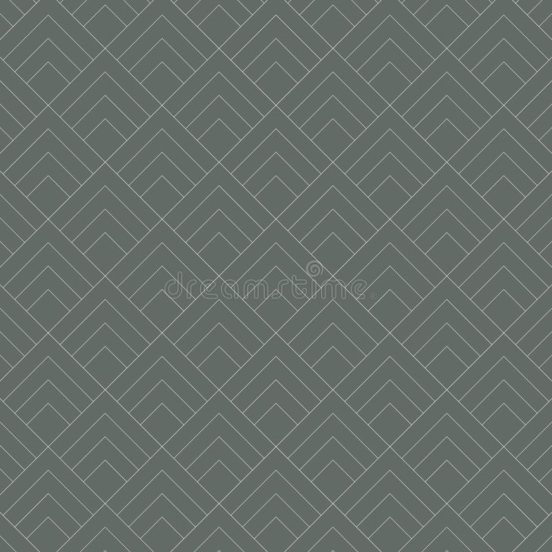 Free Geometric Diamond Tile Minimal Graphic Vector Pattern On Dark Green Background. Pattern Is Clean And Able Align By Handing, Royalty Free Stock Photo - 145572145