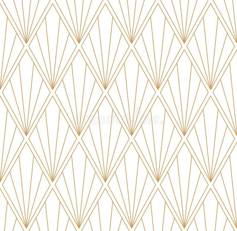 Geometric Diamond Vector Seamless Pattern. Abstract Art Deco Background. Classic Stylish Texture. Vector abstract seamless pattern. Geometric classical vector illustration