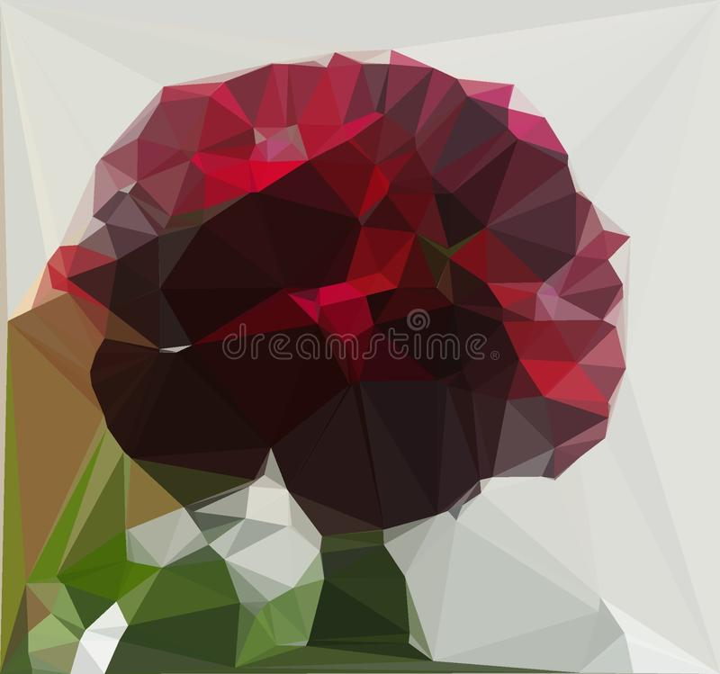 Geometric digital art. The flower for bees. Nature, garden royalty free illustration