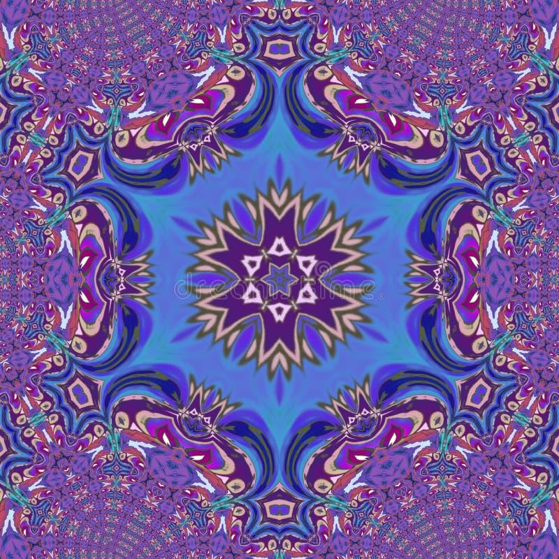 Violet caleidoscope digital art with a lot of details vector illustration