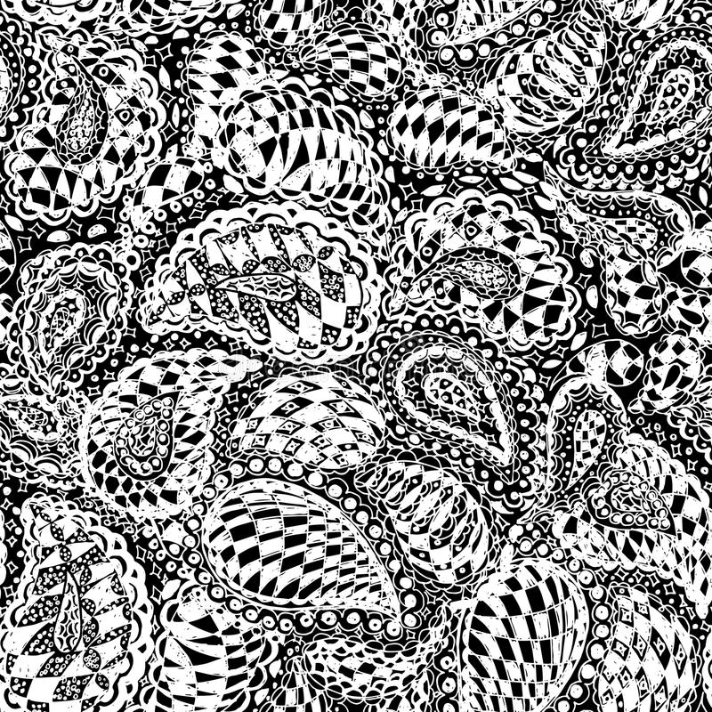 Geometric doodle seamless wallpaper pattern. royalty free illustration