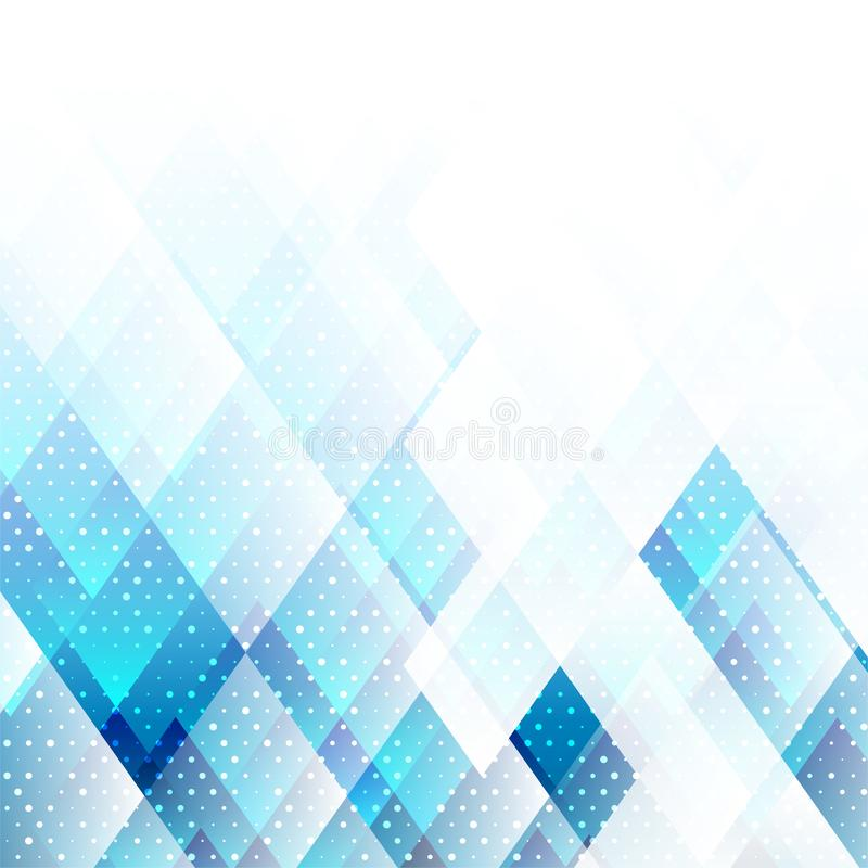 Geometric elements blue color with dots abstract vector background vector illustration