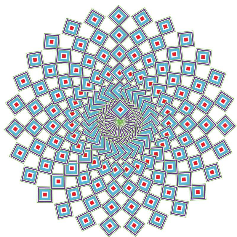 Geometric ethnic mandala vector illustration
