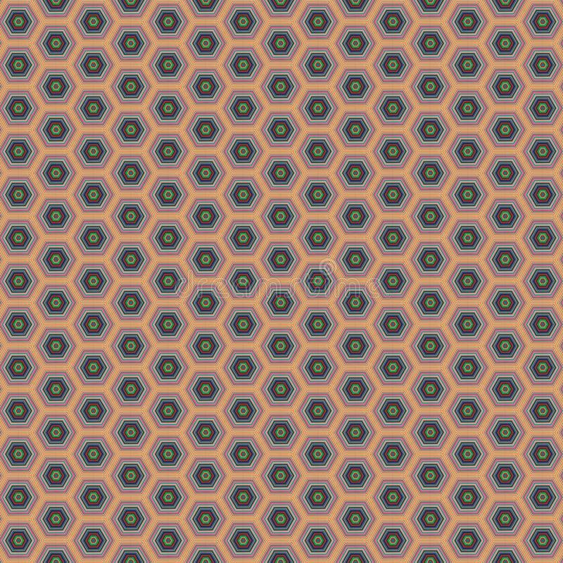 Geometric ethnic pattern design for background or wallpaper royalty free illustration