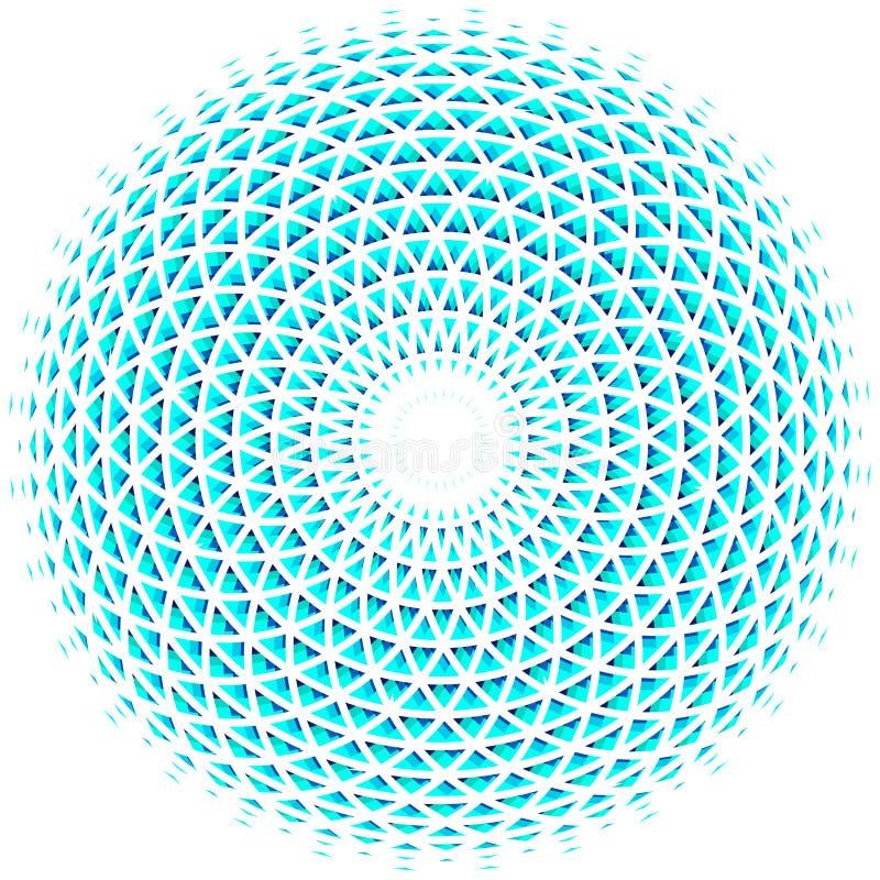 Geometric eye mandala. Colorful design element. Vector Illustration royalty free illustration
