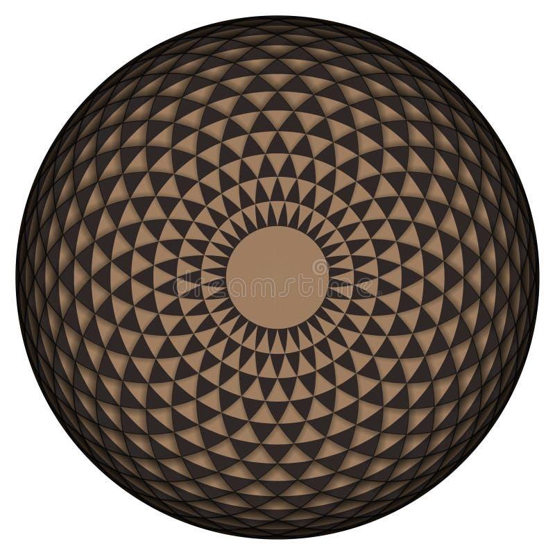Geometric eye mandala. Vector Illustration. Geometric eye mandala. design element illustration stock illustration