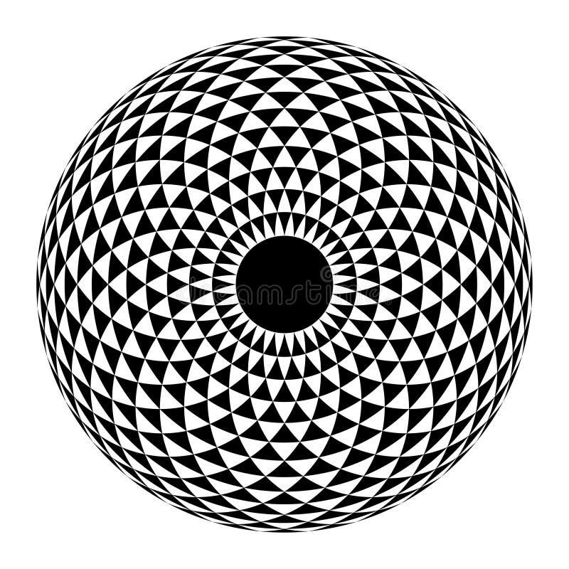 Geometric eye mandala. Vector Illustration. Geometric eye mandala. design element vector illustration stock illustration