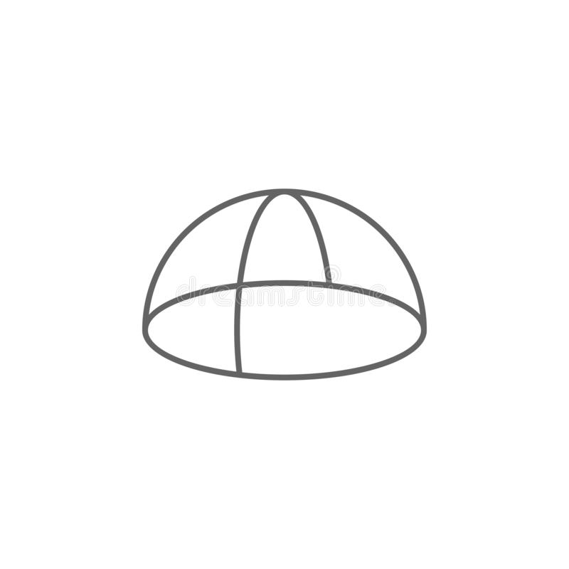 Geometric figures, hemisphere outline icon. Elements of geometric figures illustration icon. Signs and symbols can be used for web stock illustration