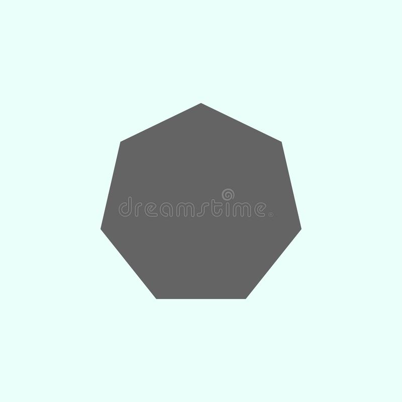 Geometric figures, heptagon icon. Elements of geometric figures illustration icon. Signs and symbols can be used for web, logo, vector illustration