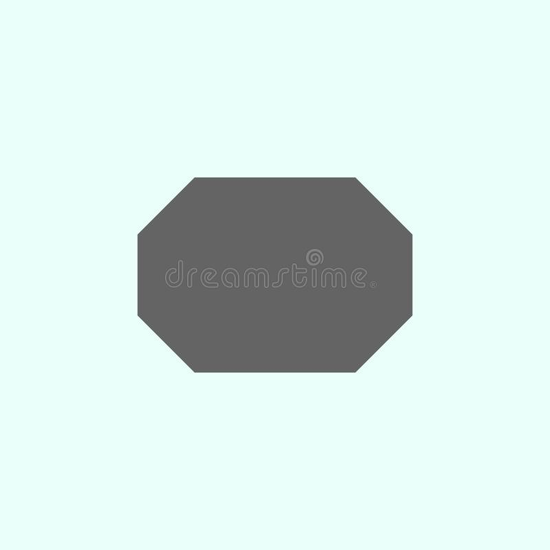 Geometric figures, octagon icon. Elements of geometric figures illustration icon. Signs and symbols can be used for web, logo, royalty free illustration