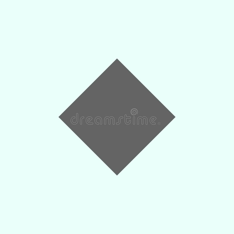 Geometric figures, rhombus icon. Elements of geometric figures illustration icon. Signs and symbols can be used for web, logo, royalty free illustration