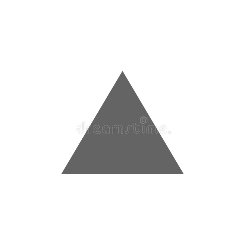 Geometric figures, triangle icon. Elements of geometric figures illustration icon. Signs and symbols can be used for web, logo, stock illustration