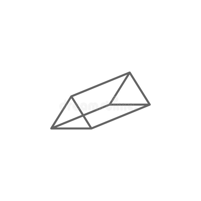 Geometric figures, triangular prism outline icon. Elements of geometric figures illustration icon. Signs and symbols can be used vector illustration
