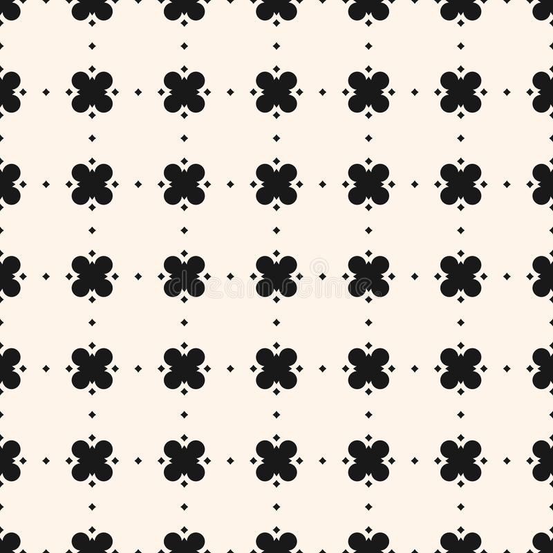 Geometric floral pattern. Vector ornamental seamless texture. royalty free illustration