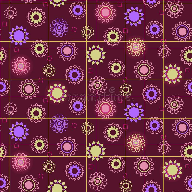 Geometric flower background for fabric, wallpaper or web. royalty free stock photography