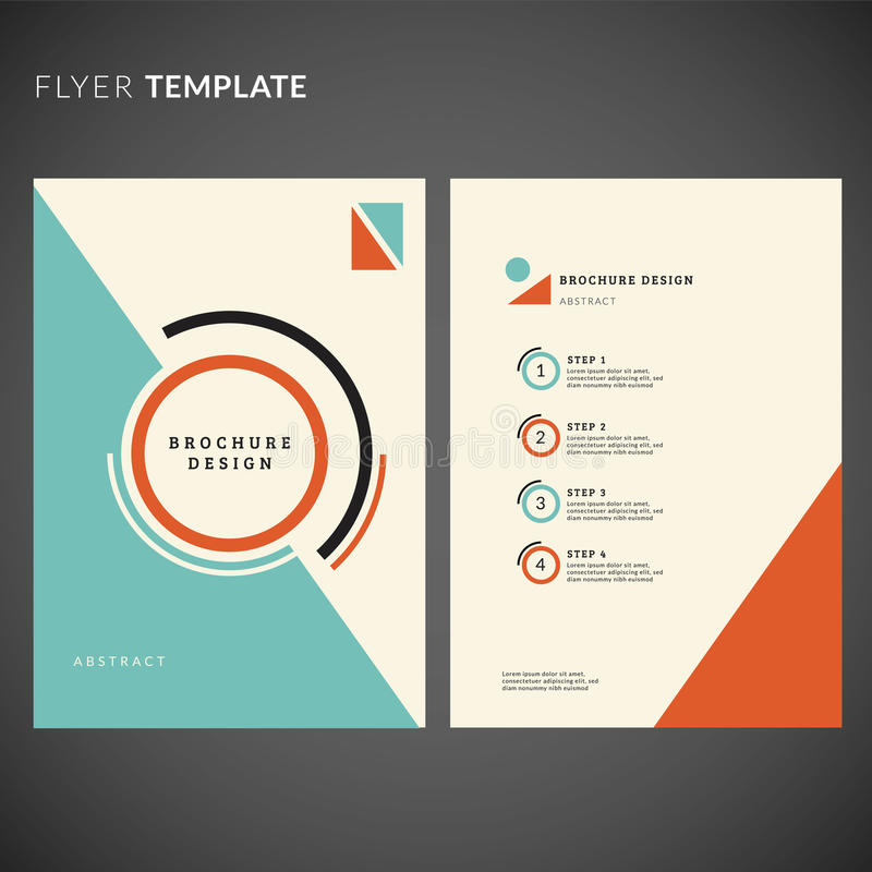 Geometric Flyer Design Flyer Template Stock Vector  Illustration