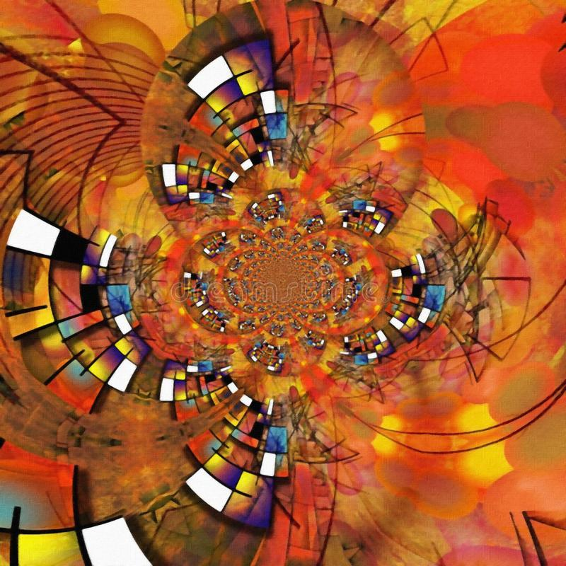 Geometric Fractal. In vivid colors vector illustration