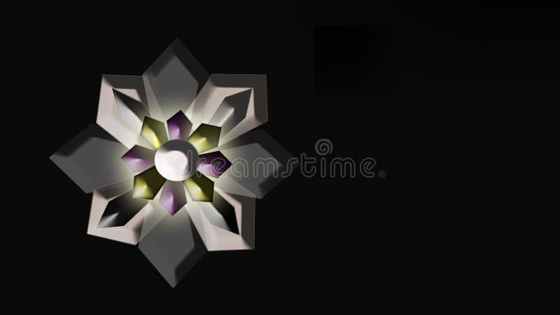 Geometric, fraktal flower stock illustration