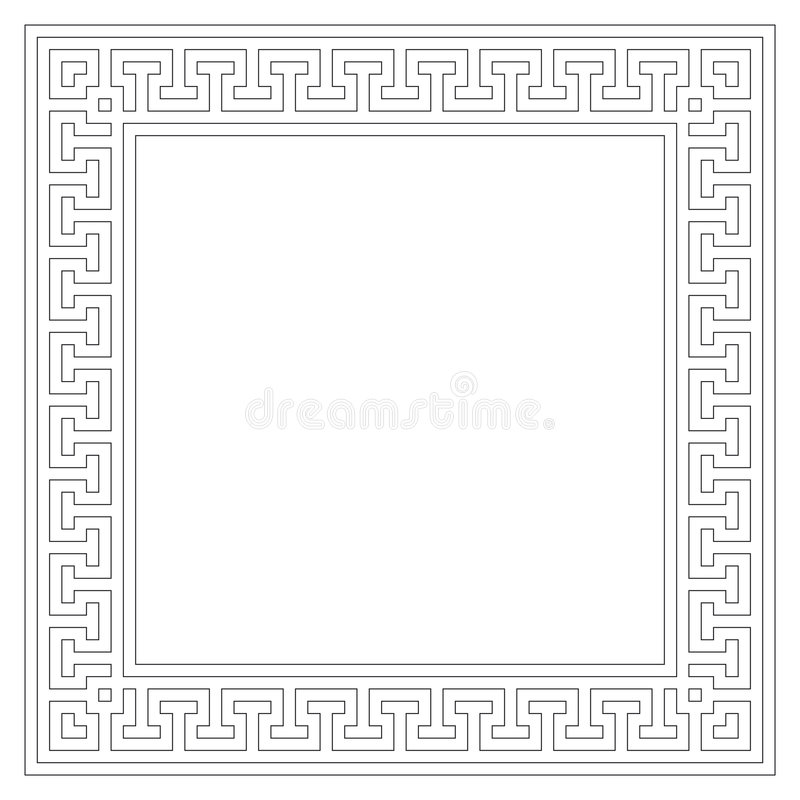 Download Geometric frame (vector) stock vector. Image of four, frames - 7075621