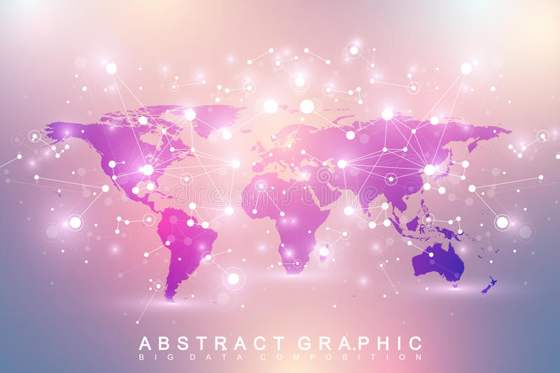 Geometric graphic background communication with political world map download geometric graphic background communication with political world map stock vector illustration of perspective gumiabroncs Choice Image