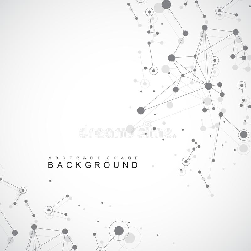 Geometric graphic background molecule and communication. Big data complex with compounds. Perspective backdrop. Minimal vector illustration