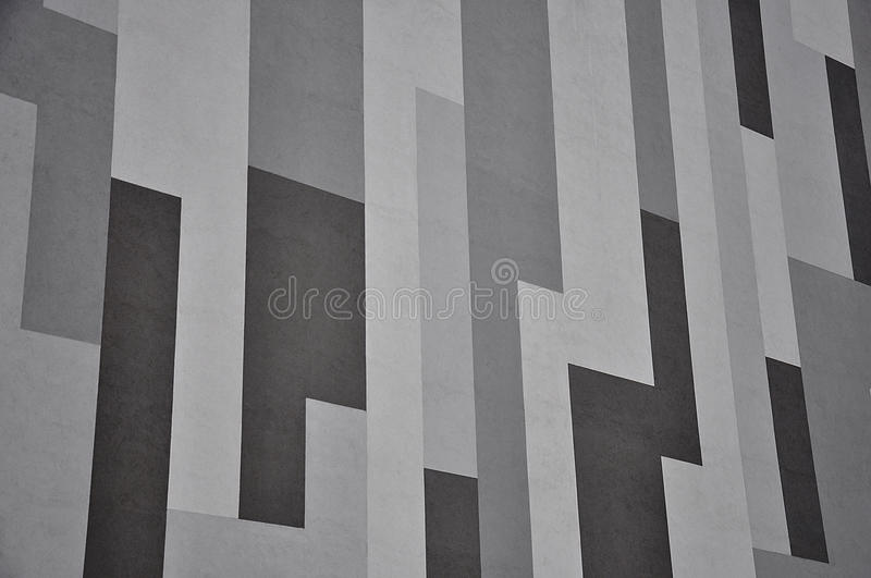 Geometric gray facade royalty free stock photography