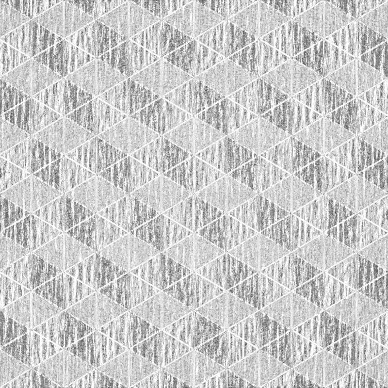 Geometric gray and white grunge background stock illustration