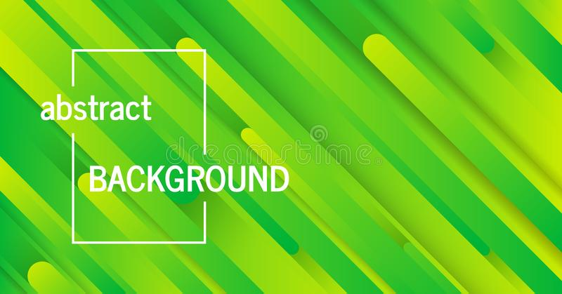 Geometric green background with abstract lines. Trendy geometric green background with abstract lines. Banner design. Futuristic dynamic pattern. Vector royalty free illustration