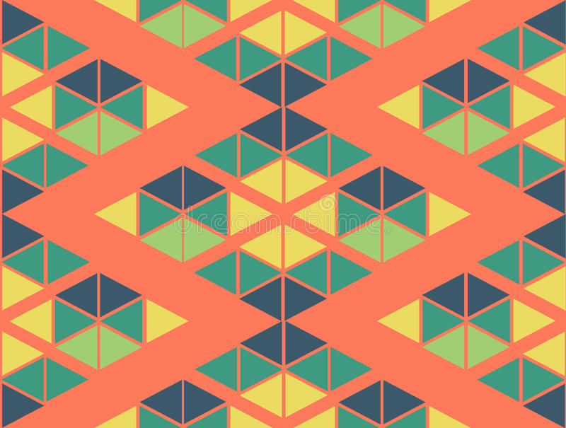 Geometric Green Yellow Blue Orange Color Pattern Background Stock