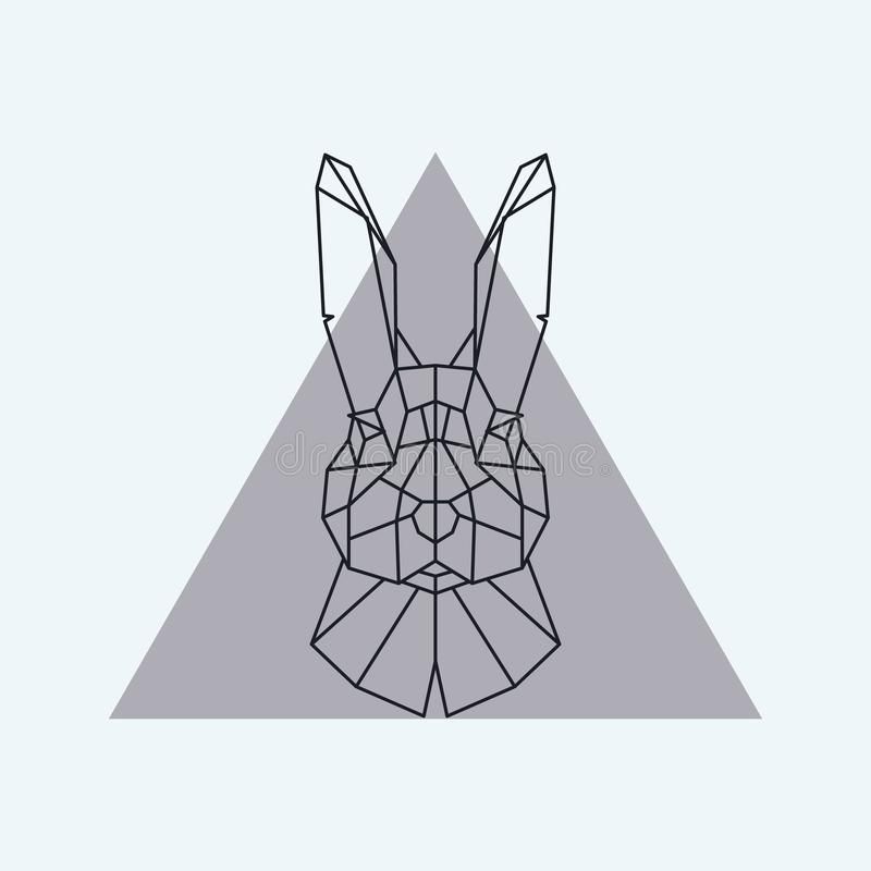 Abstract Geometric Hare Stock Vector. Illustration Of
