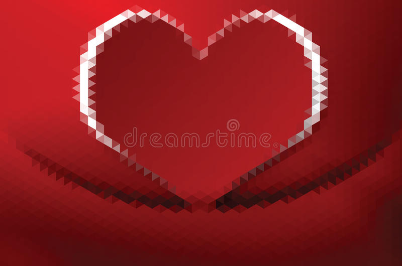 Geometric Heart In Style Triangle Abstraction Stock Vector