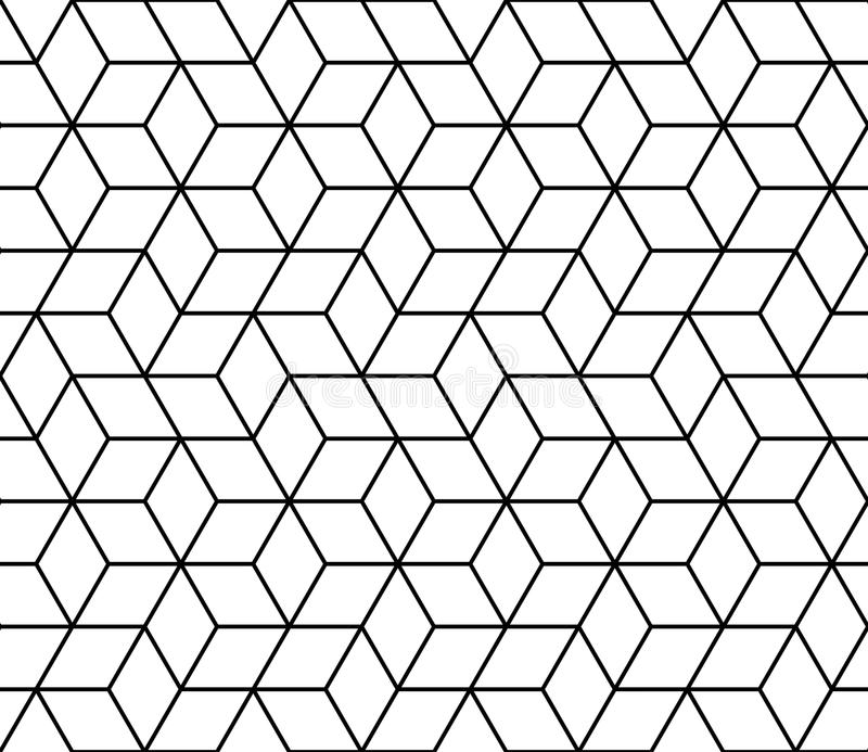 geometric hipster fashion design print 3d cubes pattern vector illustration