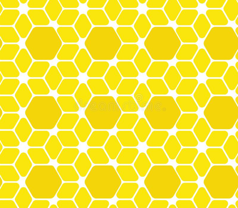 Seamless surface pattern. Vector illustration. geometric hive background. abstract honeycomb royalty free illustration