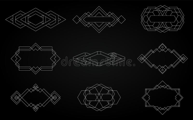 Geometric icons, signs, labels royalty free stock photo