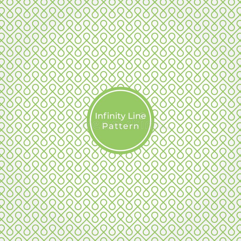 Geometric Infinity line Abstract Pattern Background stock illustration