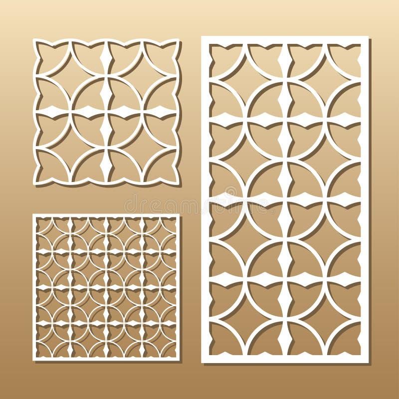 Download Geometric laser cut stock vector. Illustration of floral - 89154904
