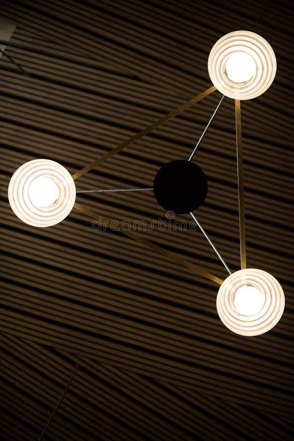 Geometric light fixture royalty free stock photos