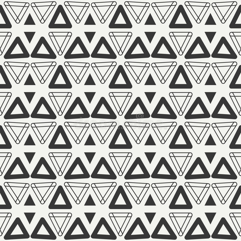 Geometric line monochrome abstract hipster seamless pattern with triangle. stock illustration