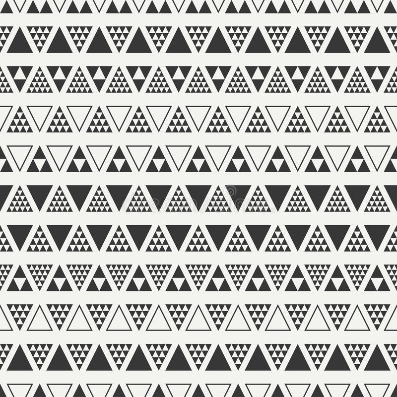 Geometric line monochrome abstract hipster seamless pattern with triangle. Wrapping paper. Scrapbook. Print. Vector illustration. Background. Graphic texture royalty free illustration