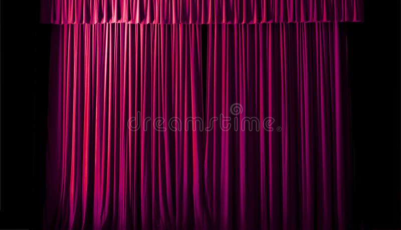 The geometric lines of the theater curtain. The curtain is still closed royalty free stock photography