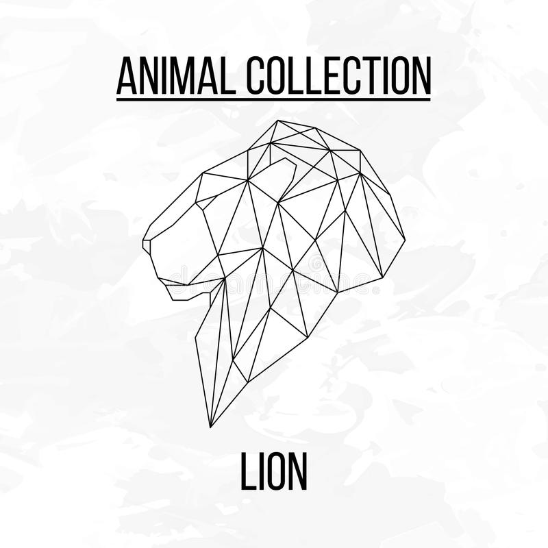 Geometric lion head stock images