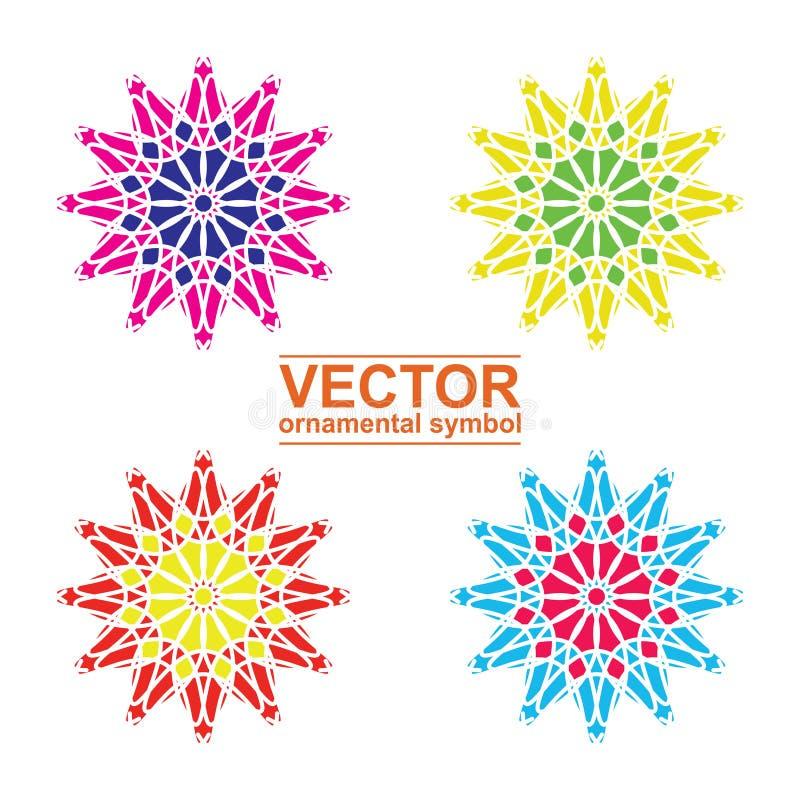 Geometric logo template set. Vector Arabic ornamental symbols stock illustration