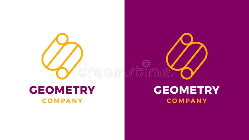 Geometric Logotype template, positive and negative variant, corporate identity for brands, S shape product logo vector illustration