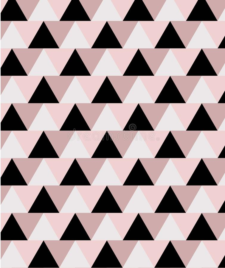 Geometric minimal seamless pattern in pink and black tones vector illustration